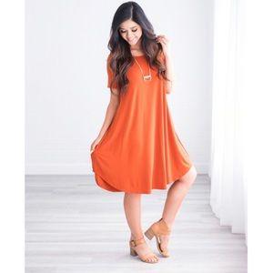 Dresses & Skirts - ANISA Medium POCKET DRESS! BURNT ORANGE! 💕LAST 1!
